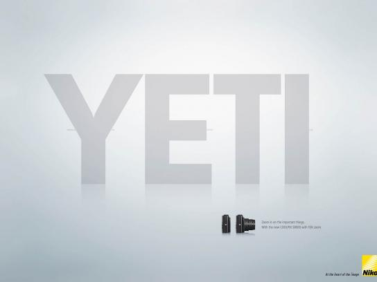 Nikon Print Ad -  Zoom In, Yeti