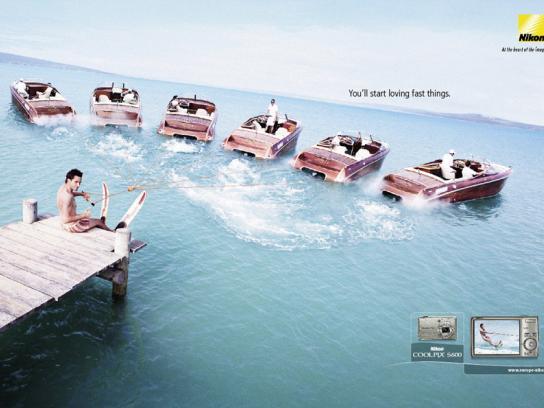 Nikon Print Ad -  Speedboats