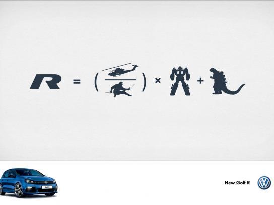 Volkswagen Print Ad -  Ninja x Godzilla