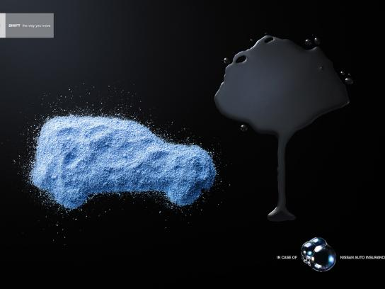 Nissan Print Ad -  Bubbles