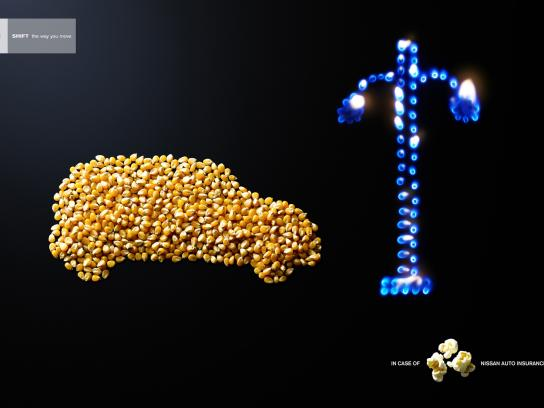 Nissan Print Ad -  Popcorn