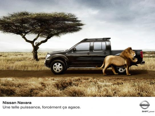Nissan Print Ad -  Lion