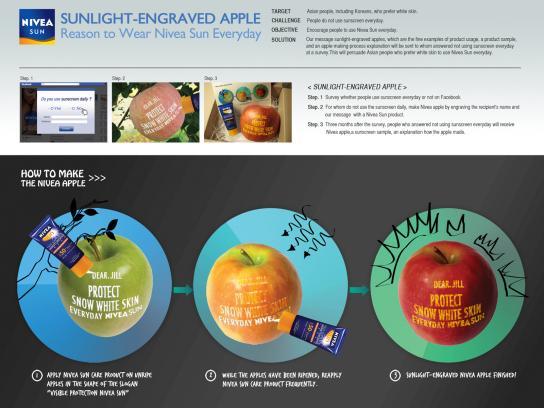 Nivea Direct Ad -  Sunlight engraved apple