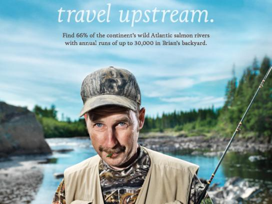Newfoundland and Labrador Tourism Print Ad -  Salmon
