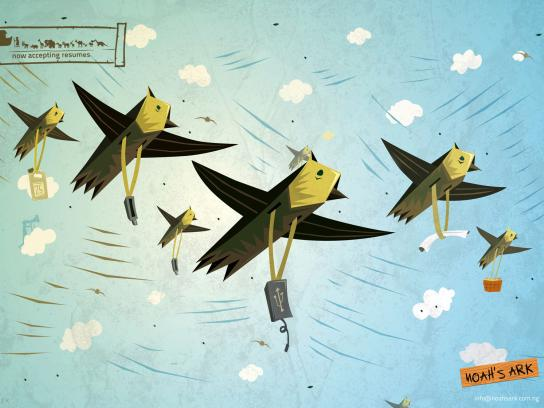 Noah's Ark Creative Print Ad -  Birds