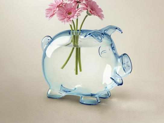 Nordea Bank Print Ad -  A new life for piggy bank, Flowers