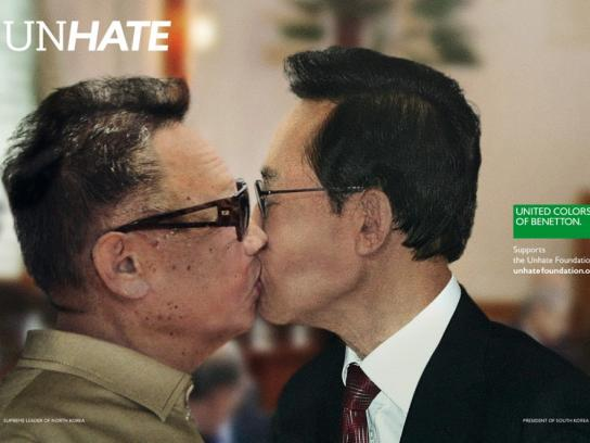 Benetton Print Ad -  Unhate, North Korea-South Korea