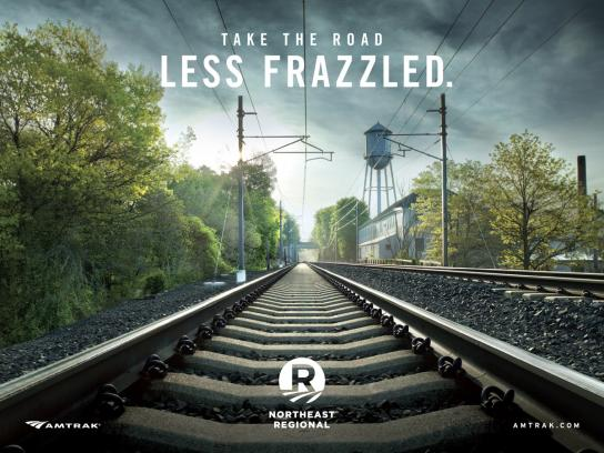 Amtrak Print Ad -  Frazzled
