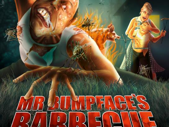 No Skito Print Ad -  Mr Bumpfaces's Barbeque