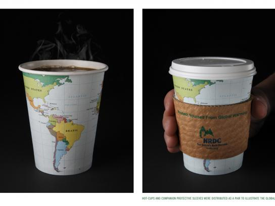 NRDC Direct Ad -  Global Warming-Hot Cup & Sleeve