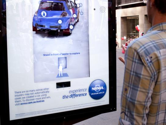NRMA Outdoor Ad -  Motion Activation Interactive Outdoor Installation