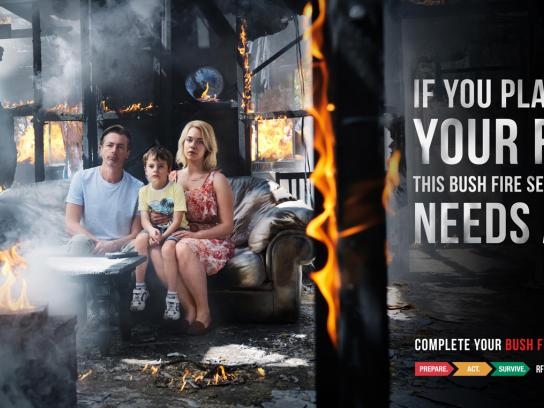 NSW RFS Outdoor Ad -  Family
