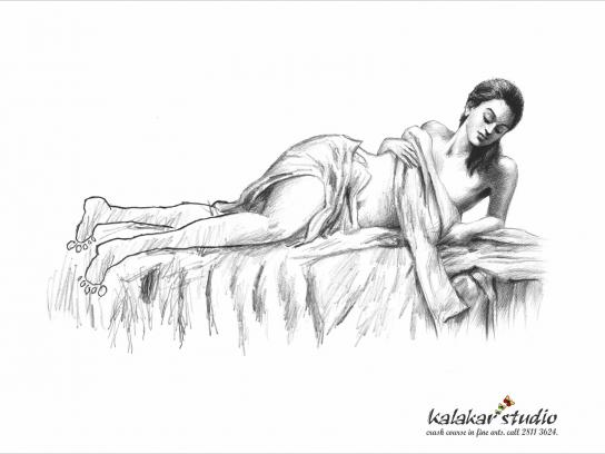 Kalakar Studio Print Ad -  Nude Model