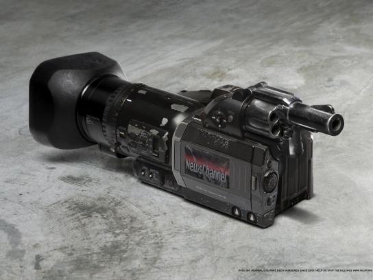 NUJP Print Ad -  Camera Gun