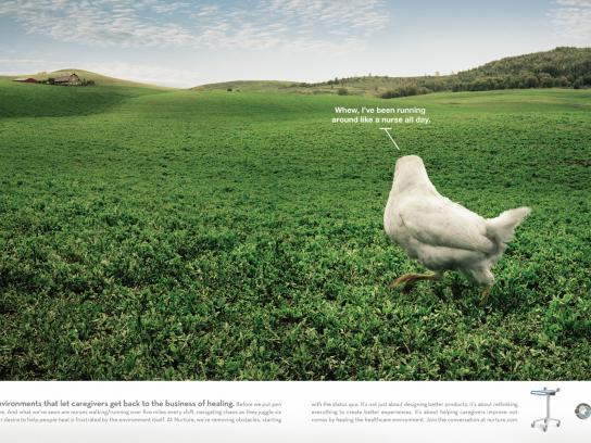 Nurture by Steelcase Print Ad -  Chicken