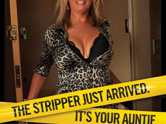Nuts Magazine Print Ad -  Stripper