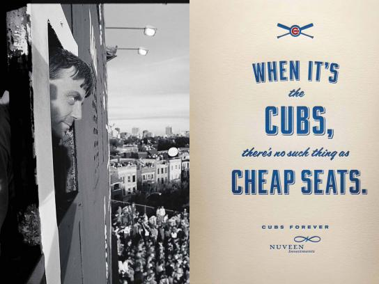 Nuveen Investments Outdoor Ad -  Chicago Cubs, 2