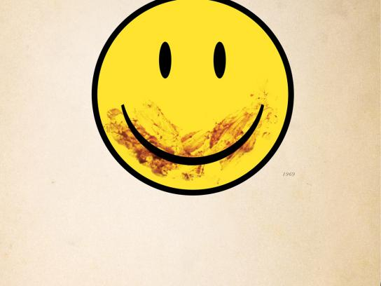Nu-Way Weiners Print Ad -  Smiley Face