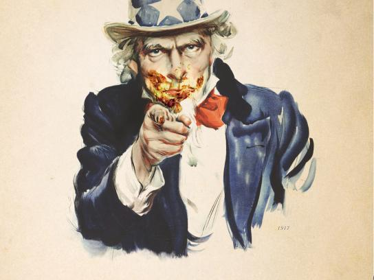 Nu-Way Weiners Print Ad -  Uncle Sam