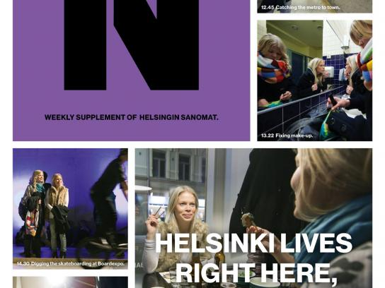 Helsingin Sanomat Print Ad -  Expo day