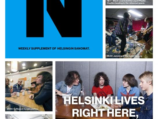 Helsingin Sanomat Print Ad -  In the life of black lizard