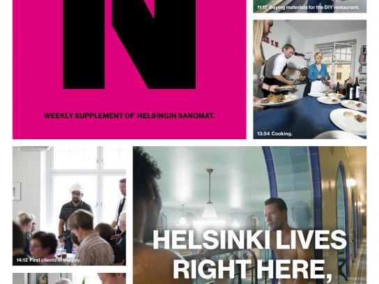 Helsingin Sanomat Print Ad -  Restaurant Day