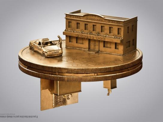 New Zealand Transport Agency Print Ad -  Flip a coin, Taxi