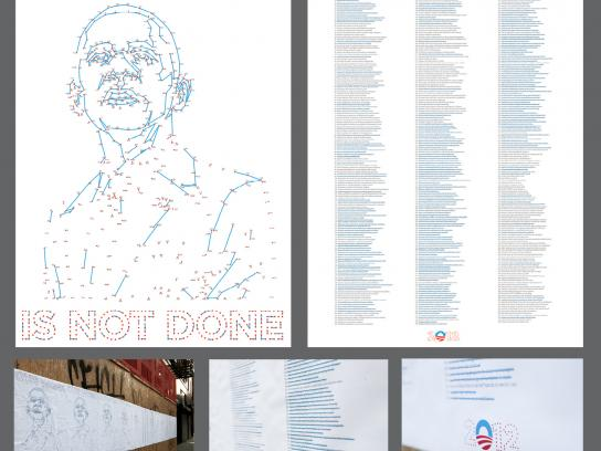 Obama Outdoor Ad -  Our Work is Not Done
