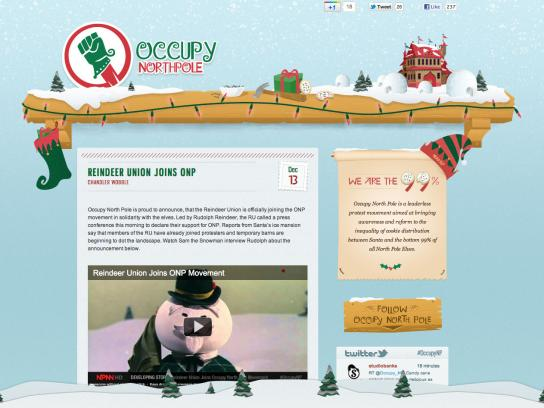Studiobanks Digital Ad -  Occupy North Pole