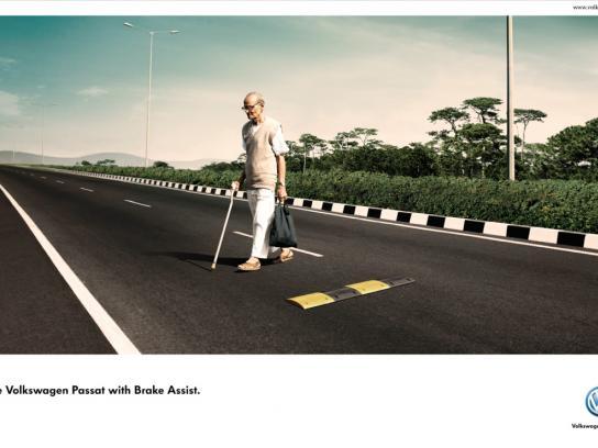 Volkswagen Print Ad -  Old man