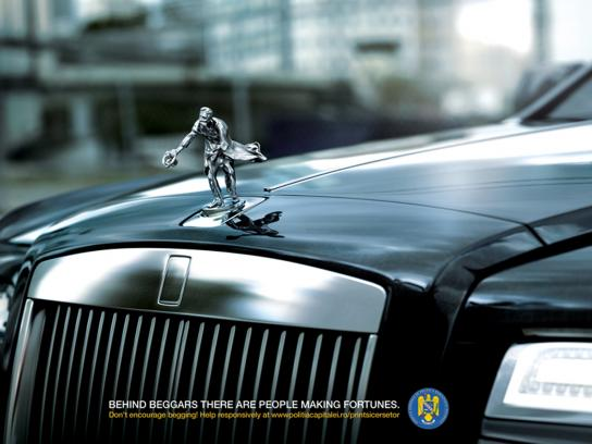 Bucharest's City Police Print Ad -  Old man