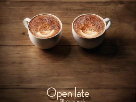 Oliver Brown Cafe Print Ad -  Open Late