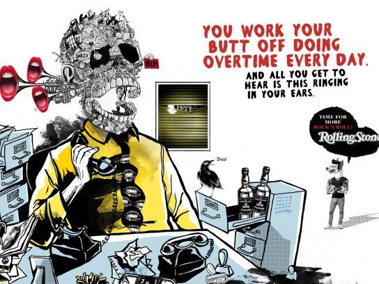 Rolling Stone Print Ad -  Tinnitus