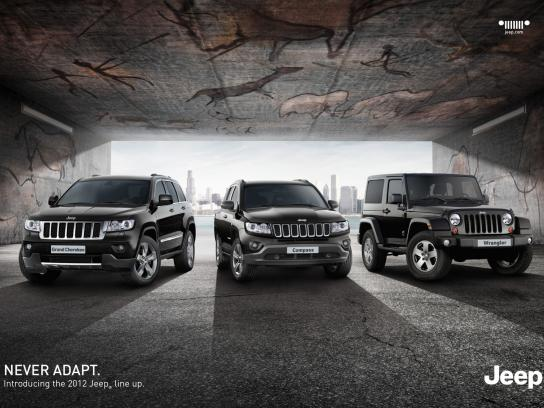 Jeep Print Ad -  Never Adapt, 1