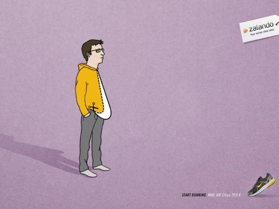Zalando Print Ad -  One man