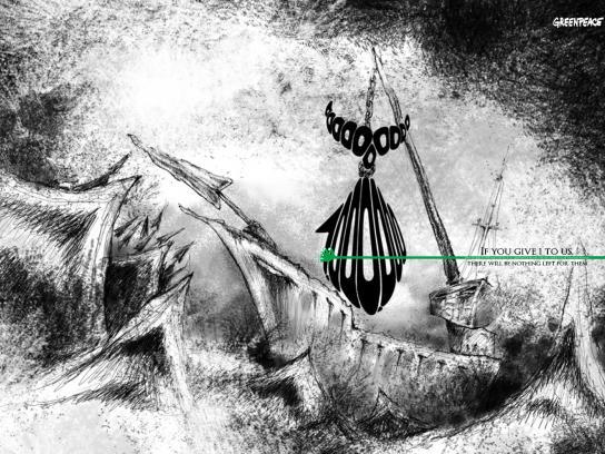 Greenpeace Print Ad -  Whale