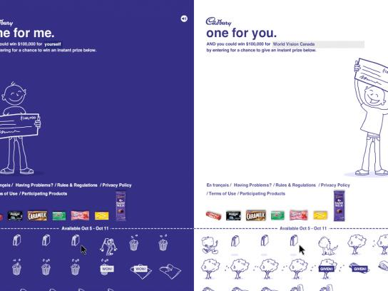 Cadbury Digital Ad -  One For Me One For You