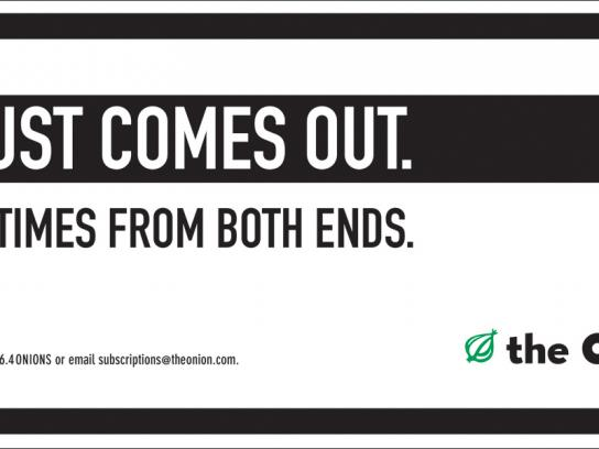 The Onion Outdoor Ad -  Both ends
