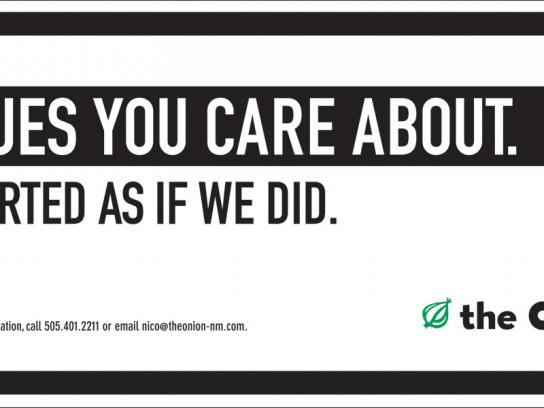 The Onion Outdoor Ad -  Issues