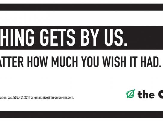 The Onion Outdoor Ad -  Nothing
