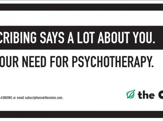 The Onion Outdoor Ad -  Psychotherapy