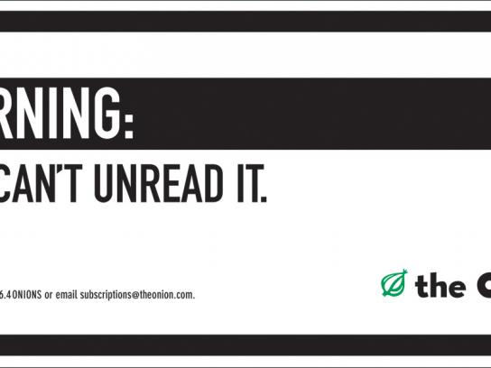 The Onion Outdoor Ad -  Unread