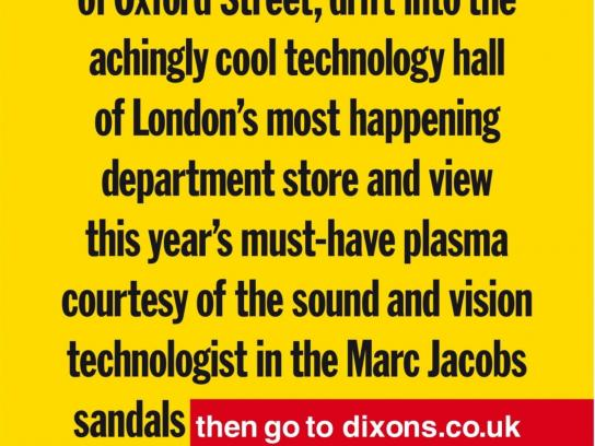 Dixons Print Ad -  Sandals