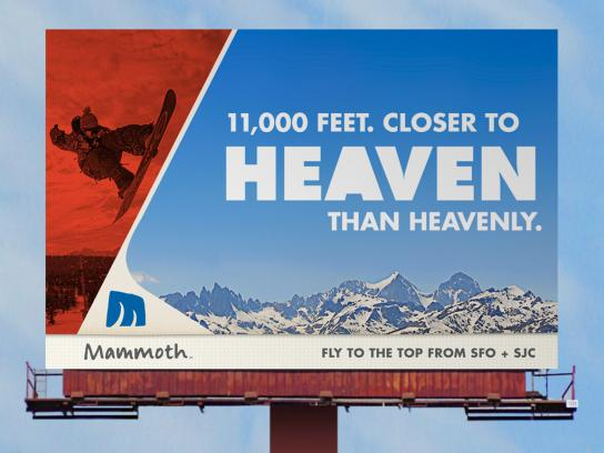 Mammoth Mountain Ski Resort Outdoor Ad -  Heaven
