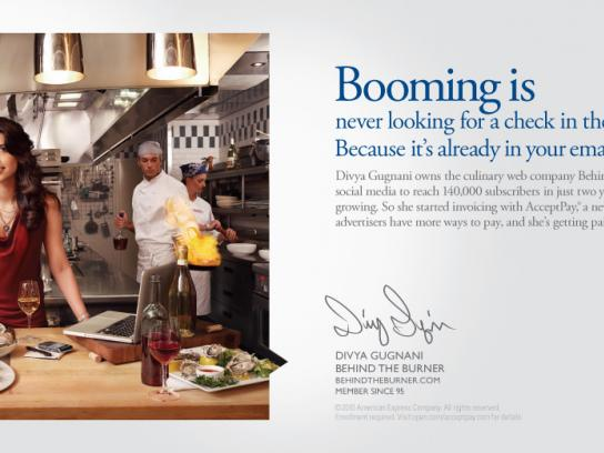 American Express Print Ad -  Start Booming, Divya Gugnani