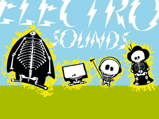 Open Source Festival Print Ad -  Electro sounds