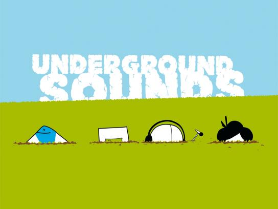 Open Source Festival Print Ad -  Underground sounds