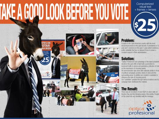 Optica Profesional Ambient Ad -  Take a good look before you vote