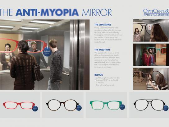 Opticentro Outdoor Ad -  Anti-myopia Mirror