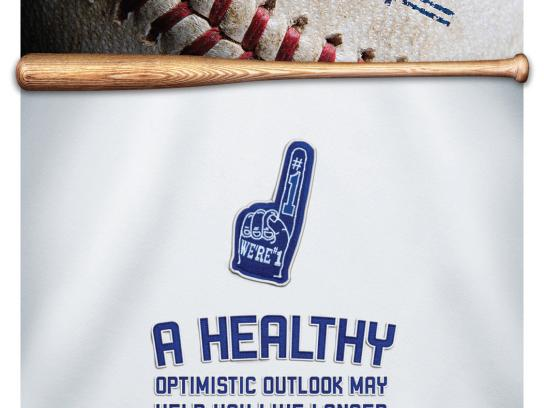 Kaiser Permanente Print Ad -  LA Dodgers / Health Tips, Optimistic